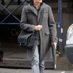 David Bowie grey around town