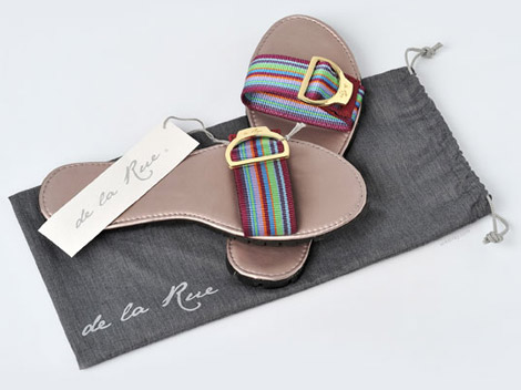 De la Rue Sandals Spring Summer 2010 colored