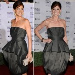 Debra Messing People s Choice Awards 2009 gray dress