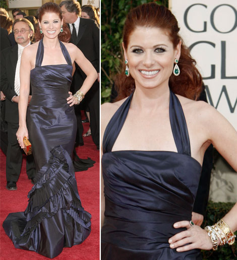 Debra Messing In Vera Wang At The Golden Globe Awards 2009
