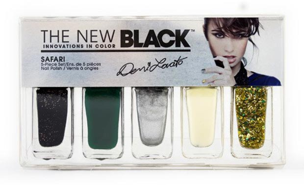 Demi Lovato The New Black nail polish glam set