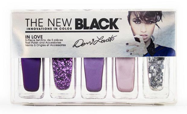 Demi Lovato The New Black purple nail polish set