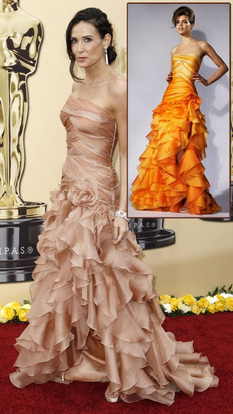 Demi Moore Atelier Versace dress 2010 Oscars