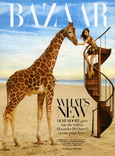 Demi Moore Harper s Bazaar April 2010 cover