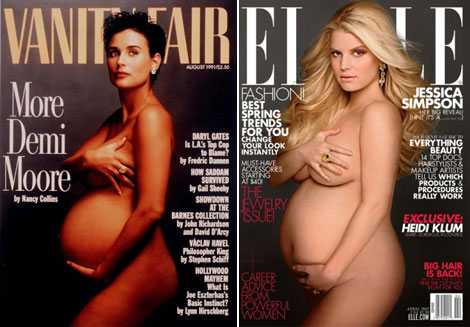 Vanity Fair's Demi Moore Pregnant Cover Reigns Supreme