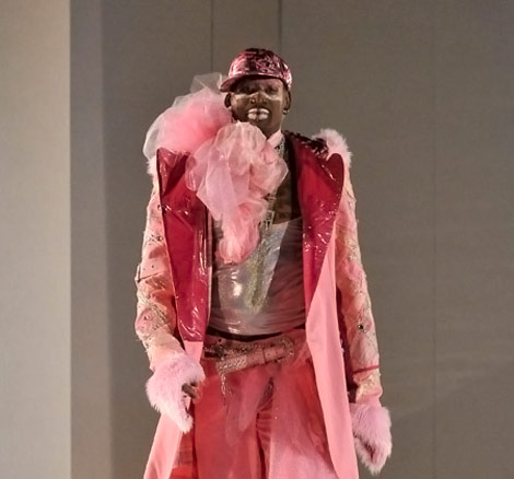 Dennis Rodman Goes GaGa Pink On Russel Simmons Catwalk