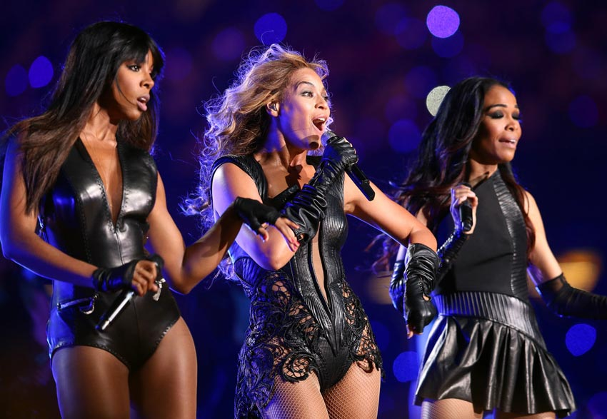 Destiny s Child reunited on Super Bowl stage