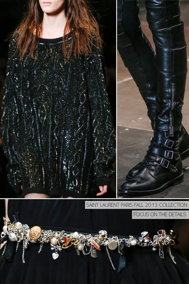 details Fall 2013 Saint Laurent Paris Collection