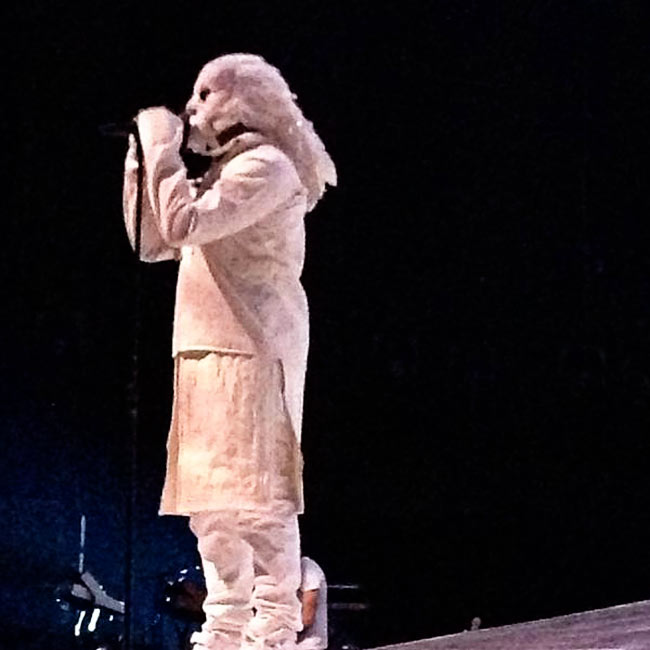 details on Kanye West white stage outfit