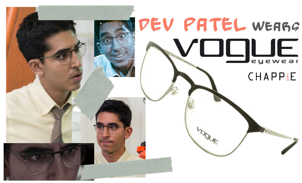 Dev Patel eyeglasses Chappie Vogue