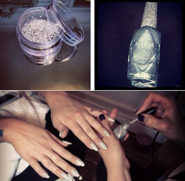 Diamonds nail polish Azature Kelly Osbourne