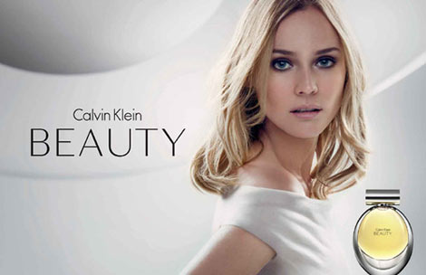 Diane Kruger Calvin Klein Beauty perfume ad