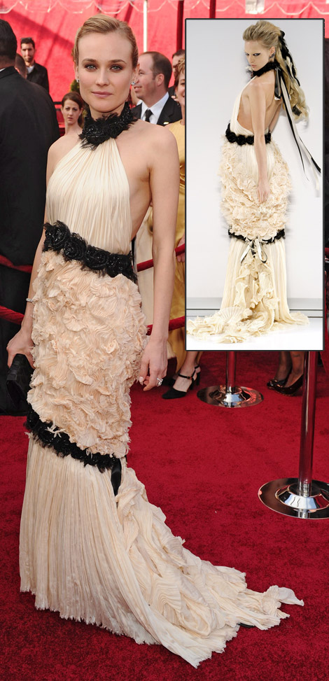 Diane Kruger In Chanel Dress At The 2010 Oscars