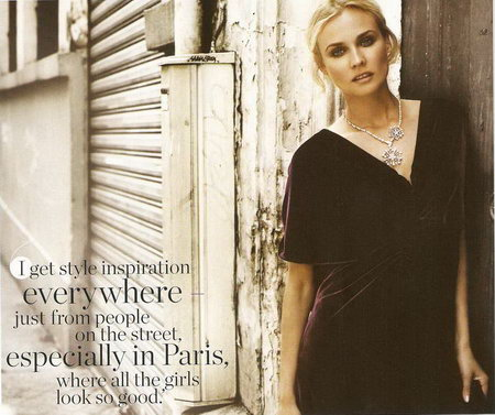 Diane Kruger's InStyle UK September 2008