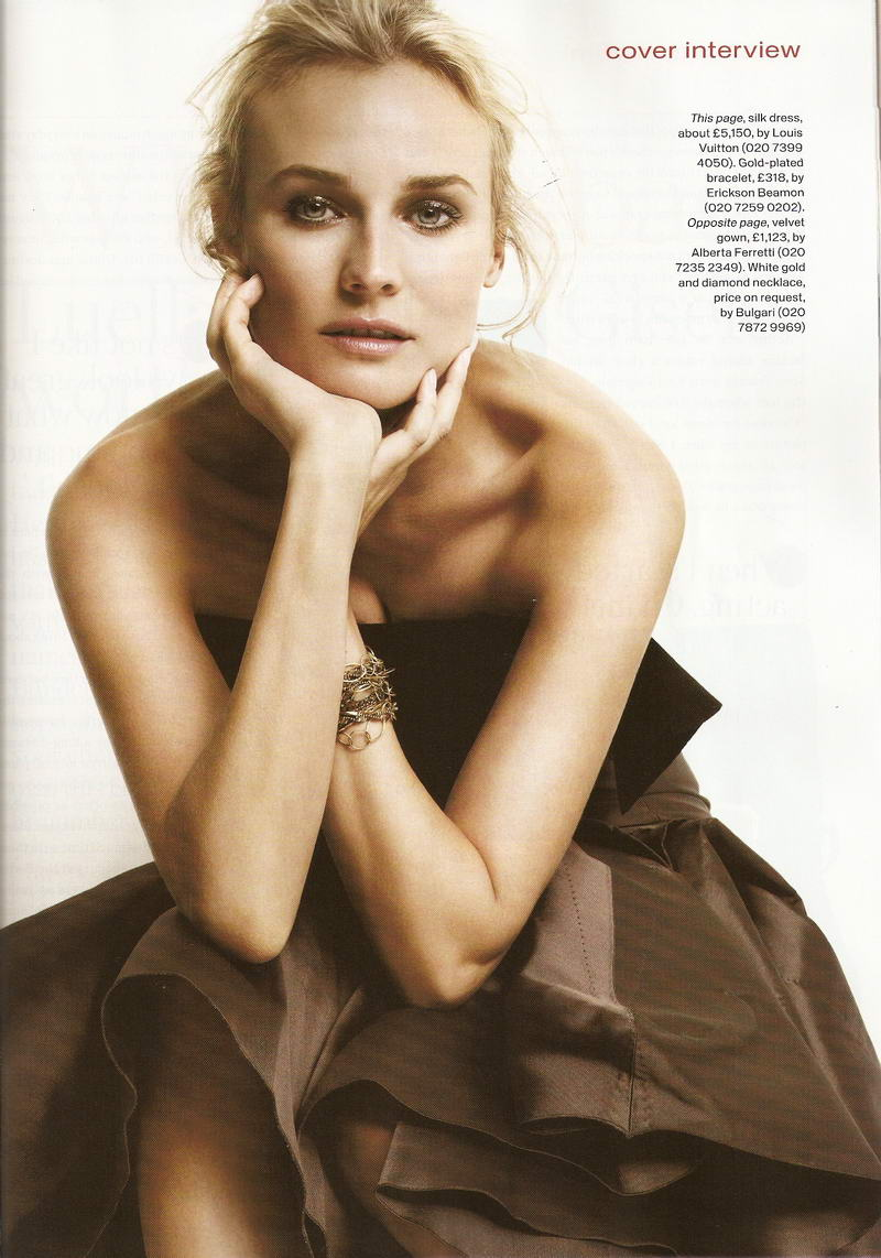 Diane Kruger Instyle Uk September Louis Vuitton