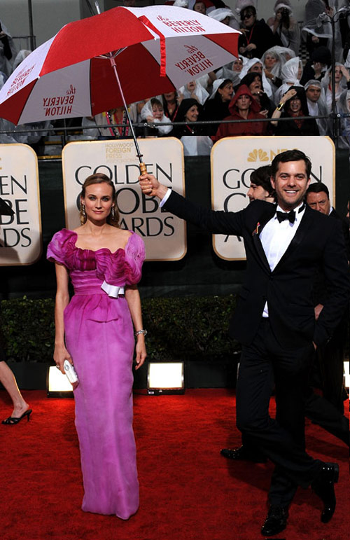 Diane Kruger's Christian Lacroix Pink Dress For Golden Globes 2010