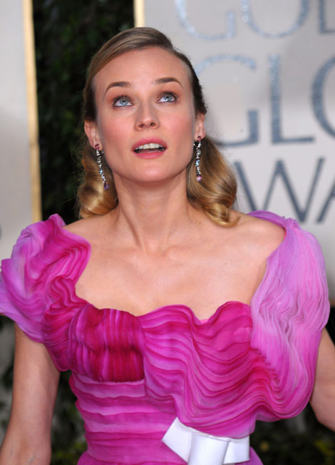 Diane Kruger Lacroix dress Golden Globes 2010