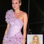 Diane Kruger In Marchesa Pink Dress At New Yorkers For Children