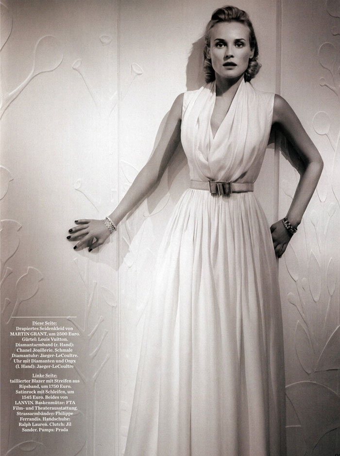 Diane Kruger pictures Amica January 09 Karl Lagerfeld 1