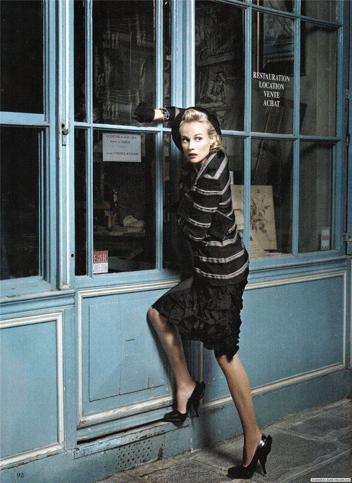 Diane Kruger pictures Amica January 09 Karl Lagerfeld 2
