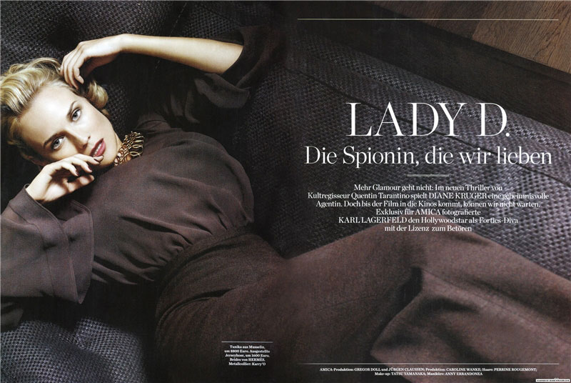 Diane Kruger pictures Amica January 09 Karl Lagerfeld 3