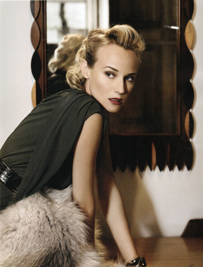 Diane Kruger pictures Amica January 09 Karl Lagerfeld 4