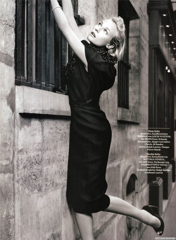 Diane Kruger pictures Amica January 09 Karl Lagerfeld 5