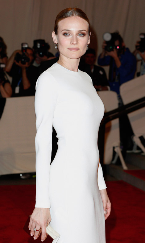 Diane Kruger White dress Met Gala 2010