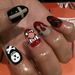 different Halloween motifs nails