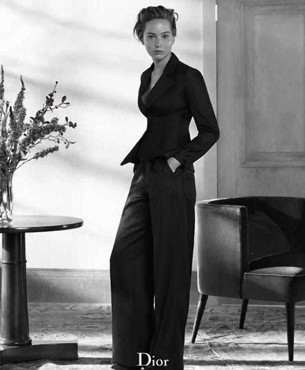 Dior Magazine Jennifer Lawrence black and white