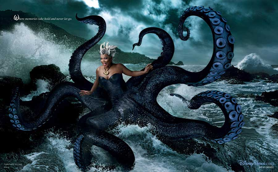 New Disney Dream Portraits By Annie Leibovitz Queen Latifah, Penelope Cruz, Alec Baldwin, Jeff Bridges