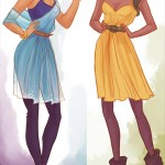 Disney Princesses in casual clothes Jasmine Tiana Viria13
