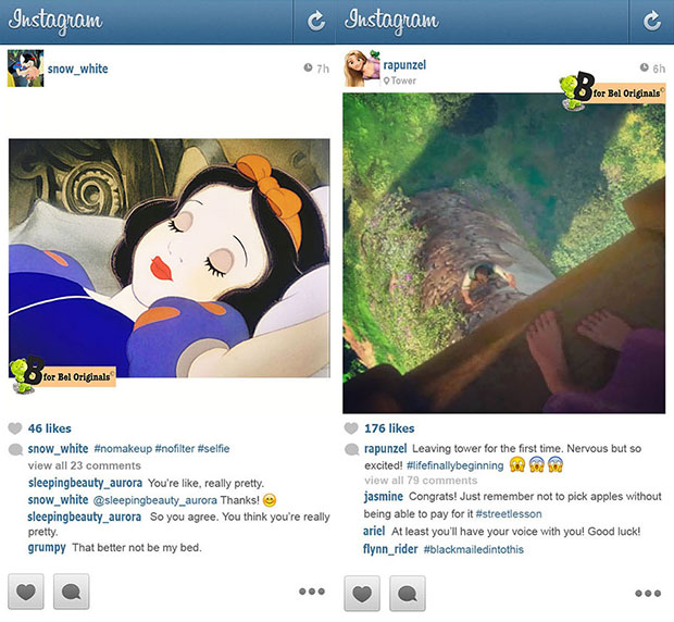 Disney Princesses Instagram accounts