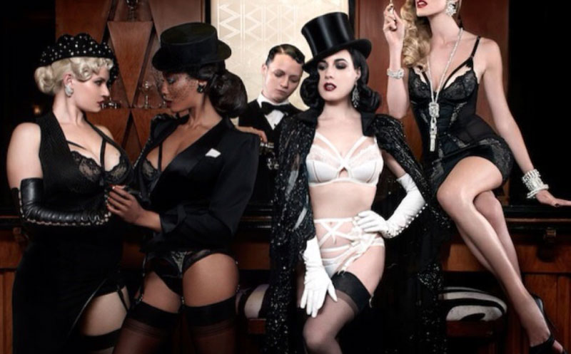 Dita von Teese advertising for her own lingerie line