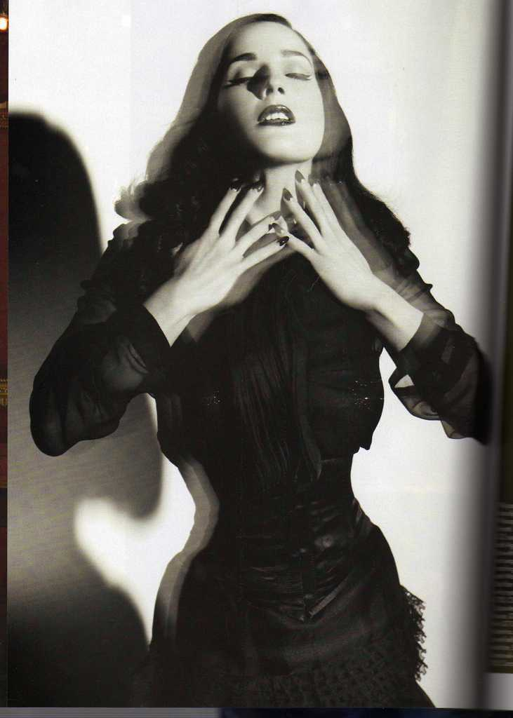 Dita Von Teese Harpers Bazaar October 2008 issue