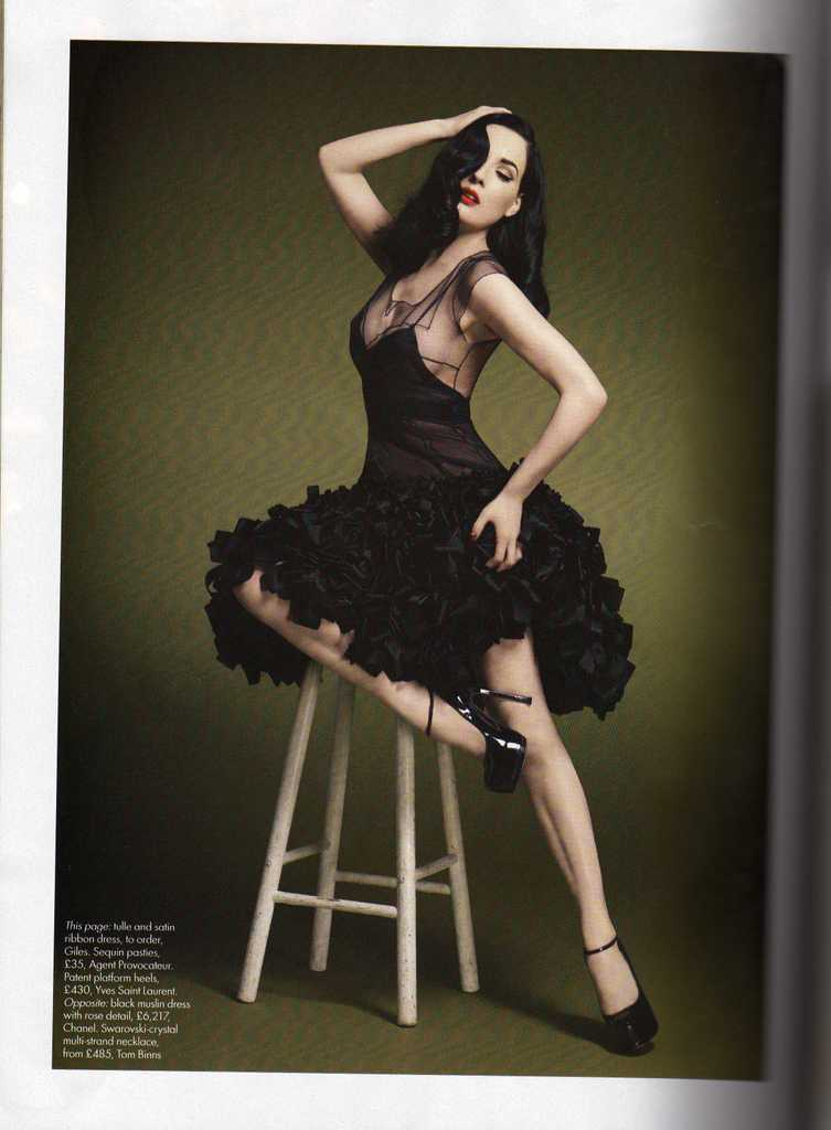 Dita Von Teese Harpers Bazaar October 2008 photo