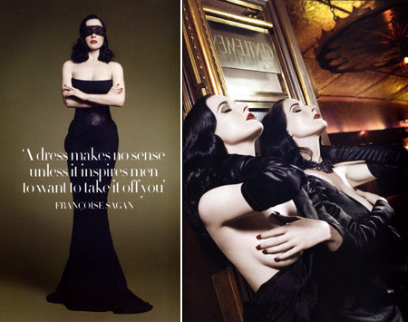 Dita Von Teese in UK Harpers Bazaar October 2008