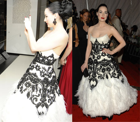 Dita Von Teese In Marchesa At the Met Gala