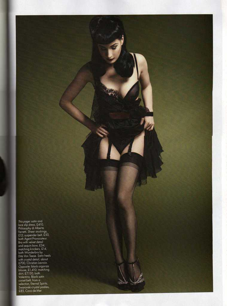 Dita Von Teese UK Harpers Bazaar October 2008