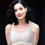 Dita von Teese white cotton bra
