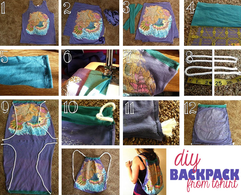 diy backpack from tshirt