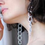 diy chain earrings alexander wang ss16