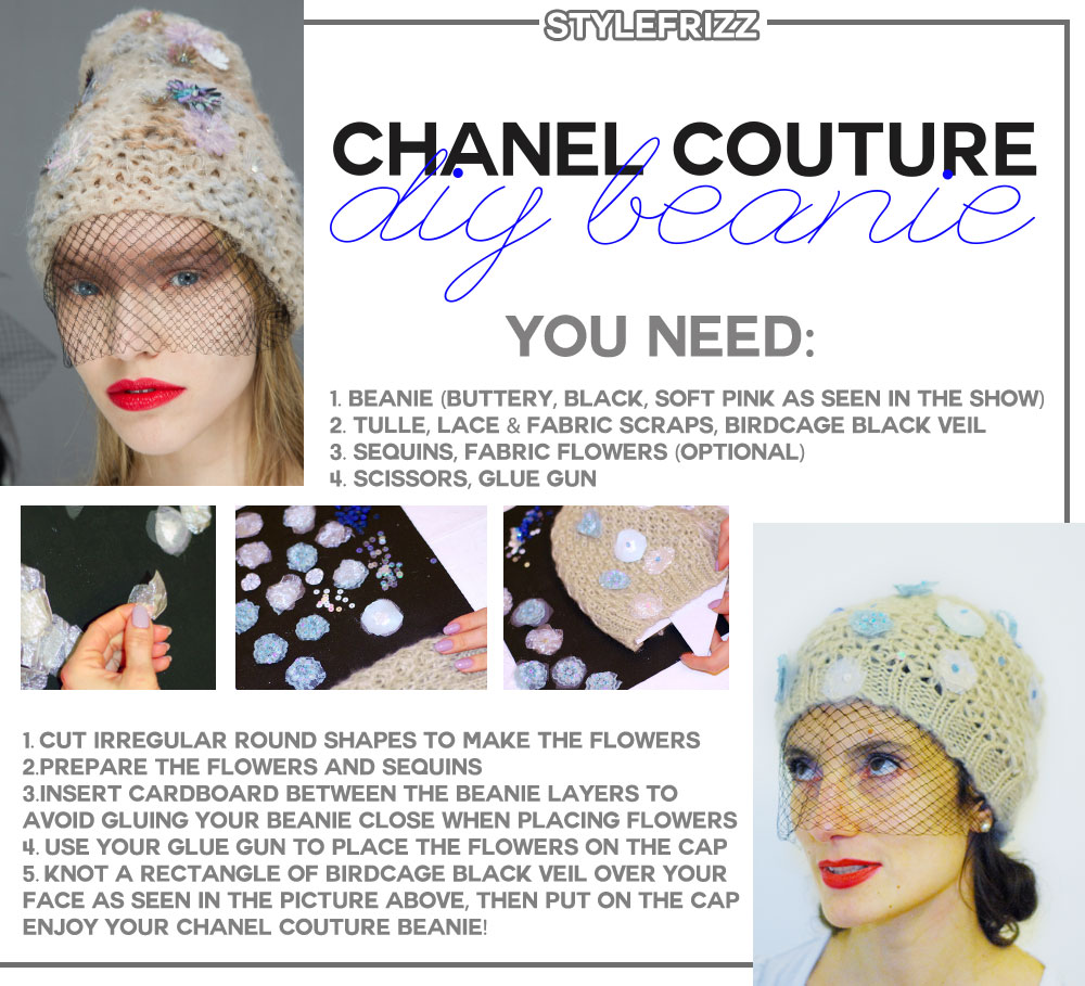 DIY Chanel Couture Knit Cap For Less