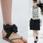 DIY Chanel Ribbon Sandals Couture Fall 2014
