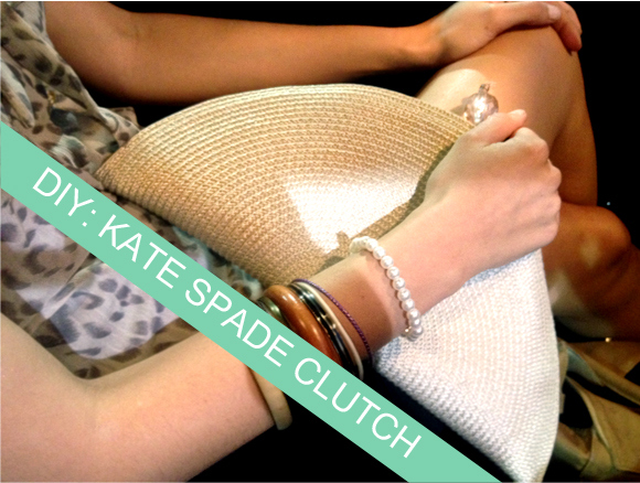 diy clutch inspired by kate spade