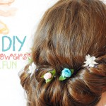 diy hair flowers tucked in how to