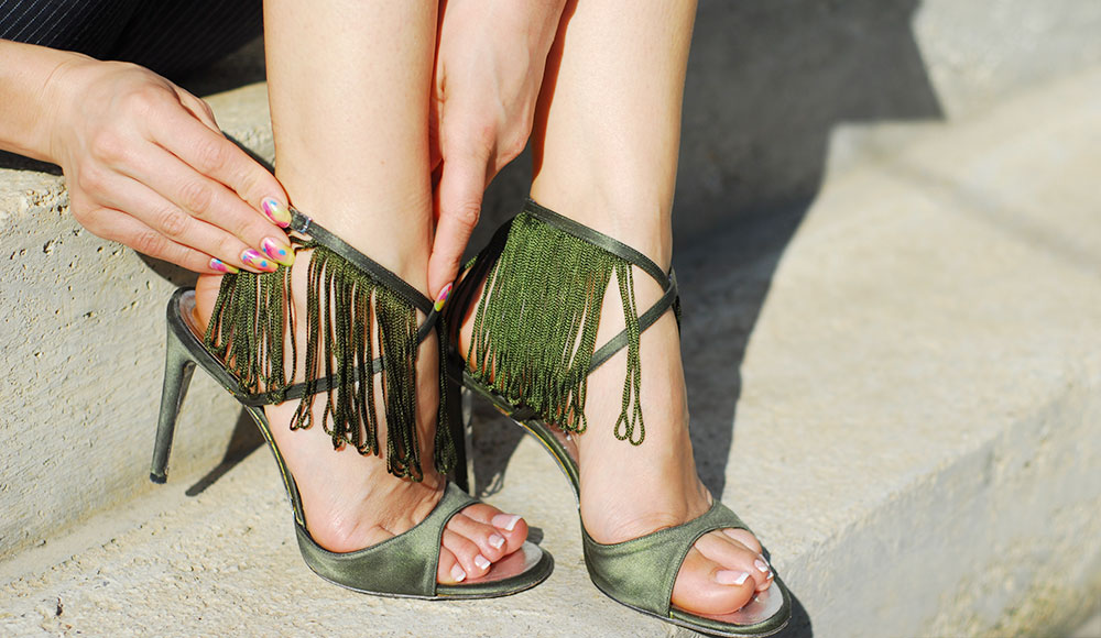 diy khaki fringe sandals