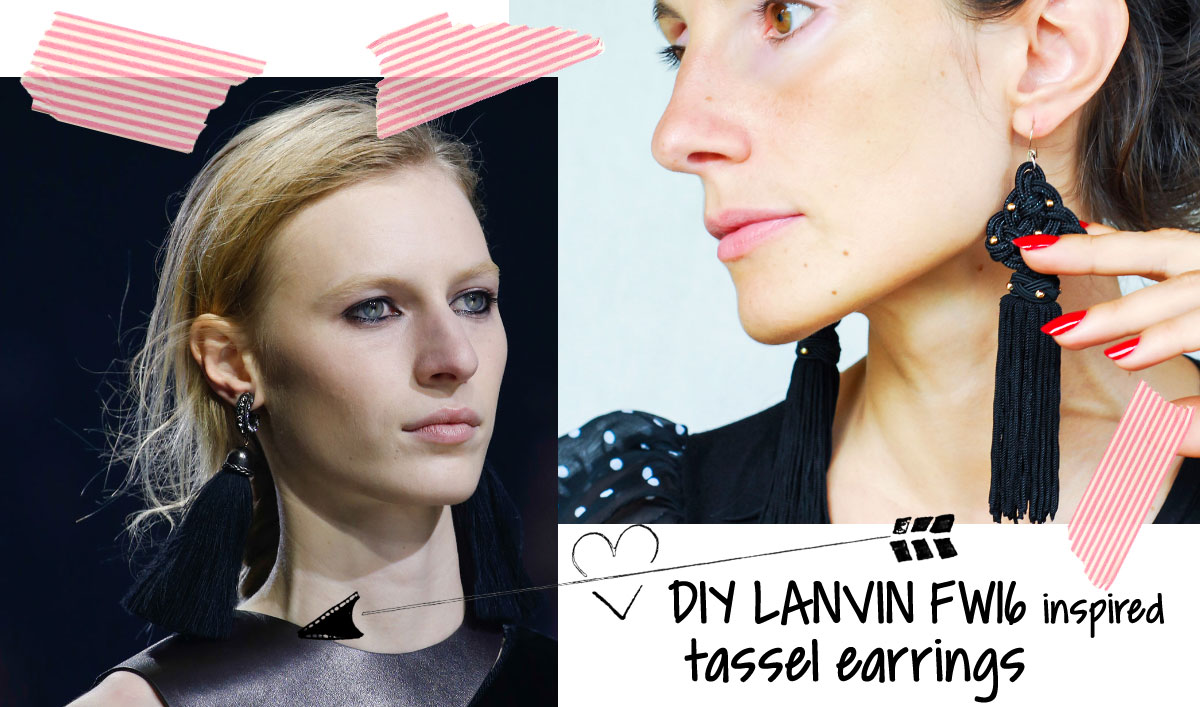DIY Tassel Earrings Inspired By Lanvin Fall Winter 2015 2016