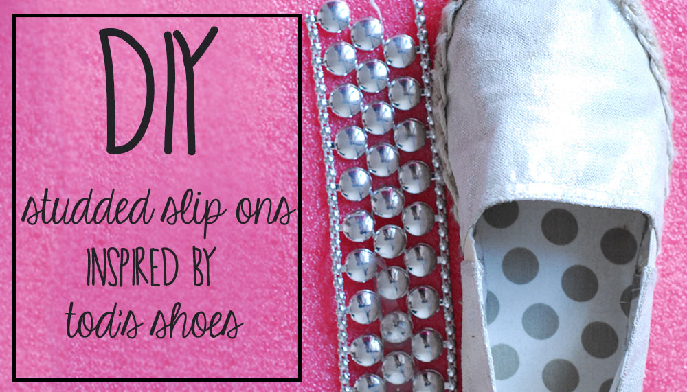 diy metallic studded shoes