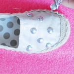DIY metallic studded slip on shoes